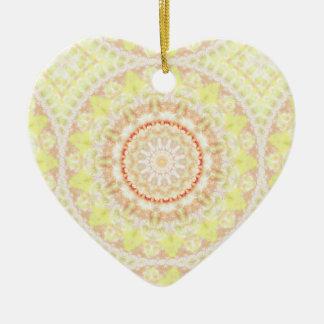 Sun Fire Pattern mandala Ceramic Ornament