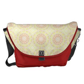 Sun Fire Pattern mandala Courier Bag