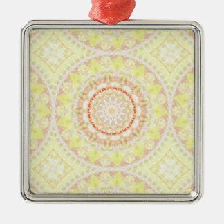 Sun Fire Pattern mandala Metal Ornament