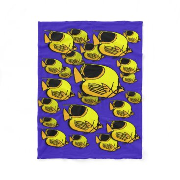 Sun Fish #12 Fleece Blanket