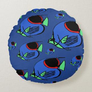 Sun Fish #3 Round Pillow