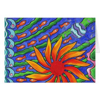 Sun Fish Card