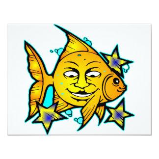 Sun Fish & Stars 4.25x5.5 Paper Invitation Card