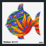 """Sun Fish Wall Sticker<br><div class=""""desc"""">This is one of my original acrylic paintings which fits so well as a design for this decal.</div>"""