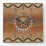 Sun Flow Square Wall Clock