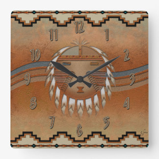 Sun Flow Square Wall Clock