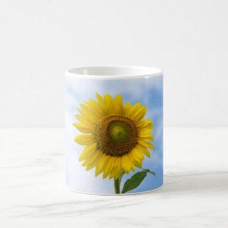 Sun Flower Against Blue Sky Classic White Coffee Mug