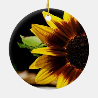 Sun Flower Ceramic Ornament
