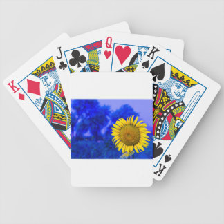 Sun flower customizable product bicycle playing cards