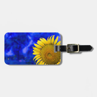 Sun flower customizable product luggage tag