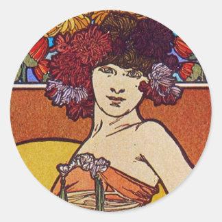 Sun Flower Goddess Classic Round Sticker