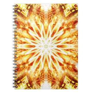 Sun Flower Grail Spiral Notebook