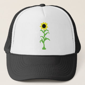 sun flower icon trucker hat