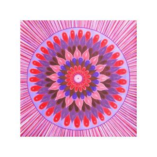 Sun flower Mandala Canvas Print