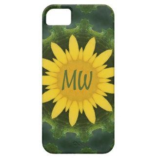 Sun Flower Monogram iPhone SE/5/5s Case