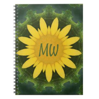 Sun Flower Monogram Notebook