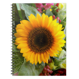 Sun Flower on Photo Notebook (80 Pages B&W)