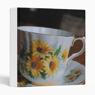 Sun Flower Tea Cup Binder
