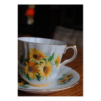 Sun Flower Tea Cup Business Cards