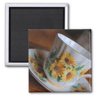 Sun Flower Tea Cup Magnet