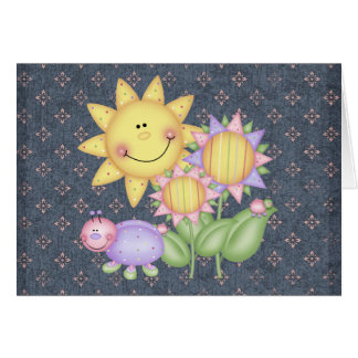 Sun Flowers and Bugs Card