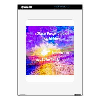 Sun ,Flowers and inspirational Buddha message iPad Skins