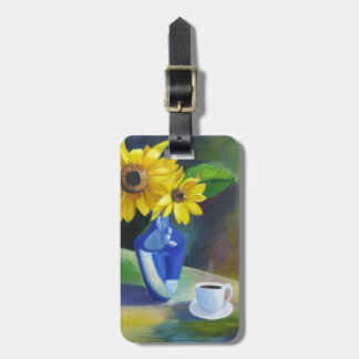 sun flowers bag tag