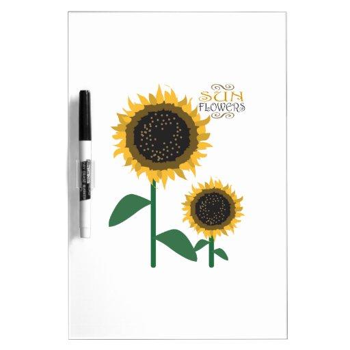 Sun Flowers Dry Erase Boards
