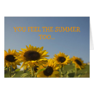 Sun flowers greeting card
