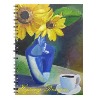 sun flowers notebook
