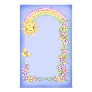 Sun, Flowers & Rainbow Stationery
