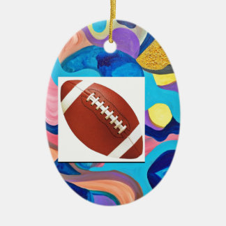 Sun Football Ceramic Ornament