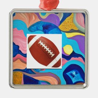 Sun Football Metal Ornament