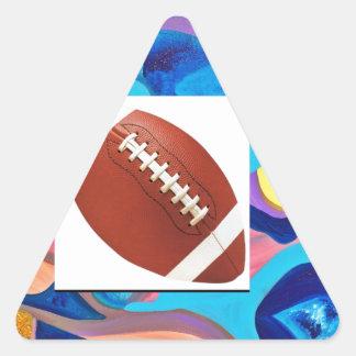 Sun Football Triangle Sticker