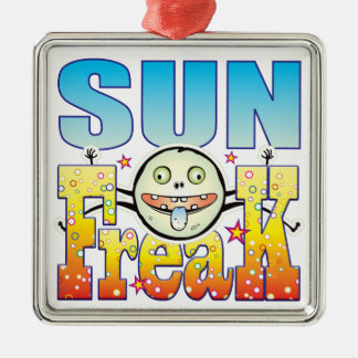 Sun Freaky Freak Silver-Colored Square Decoration