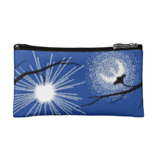 Sun Fruit and Moon Flower cosmetic bag