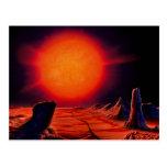 Sun gigante rojo postal