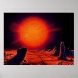 Sun gigante rojo posters