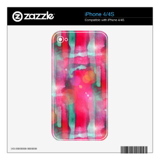 Sun glare abstract painted watercolor decals for the iPhone 4S