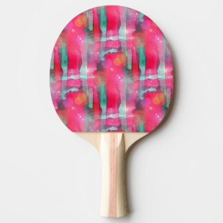 Sun glare abstract painted watercolor ping pong paddle
