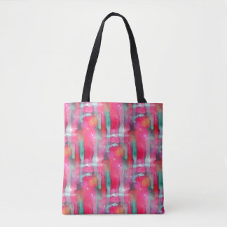 Sun glare abstract painted watercolor tote bag