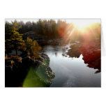Sun Glare Over St. Louis River Greeting Card