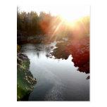 Sun Glare Over St. Louis River Postcard