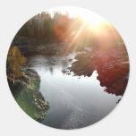 Sun Glare Over St. Louis River Round Sticker