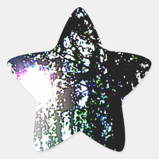 Sun glare star sticker