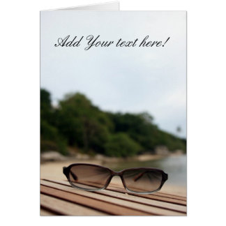 Sun Glasses Stationery Note Card