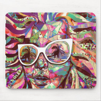Sun Glasses In a Summer Sun Mouse Pad
