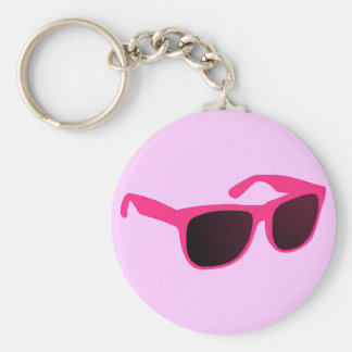 sun glasses basic round button keychain