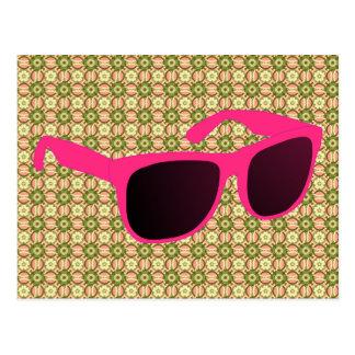 sun glasses postcard