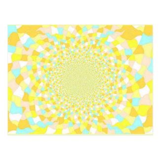 Sun Glint Water BeDazzle Art Postcard Blue / Gold